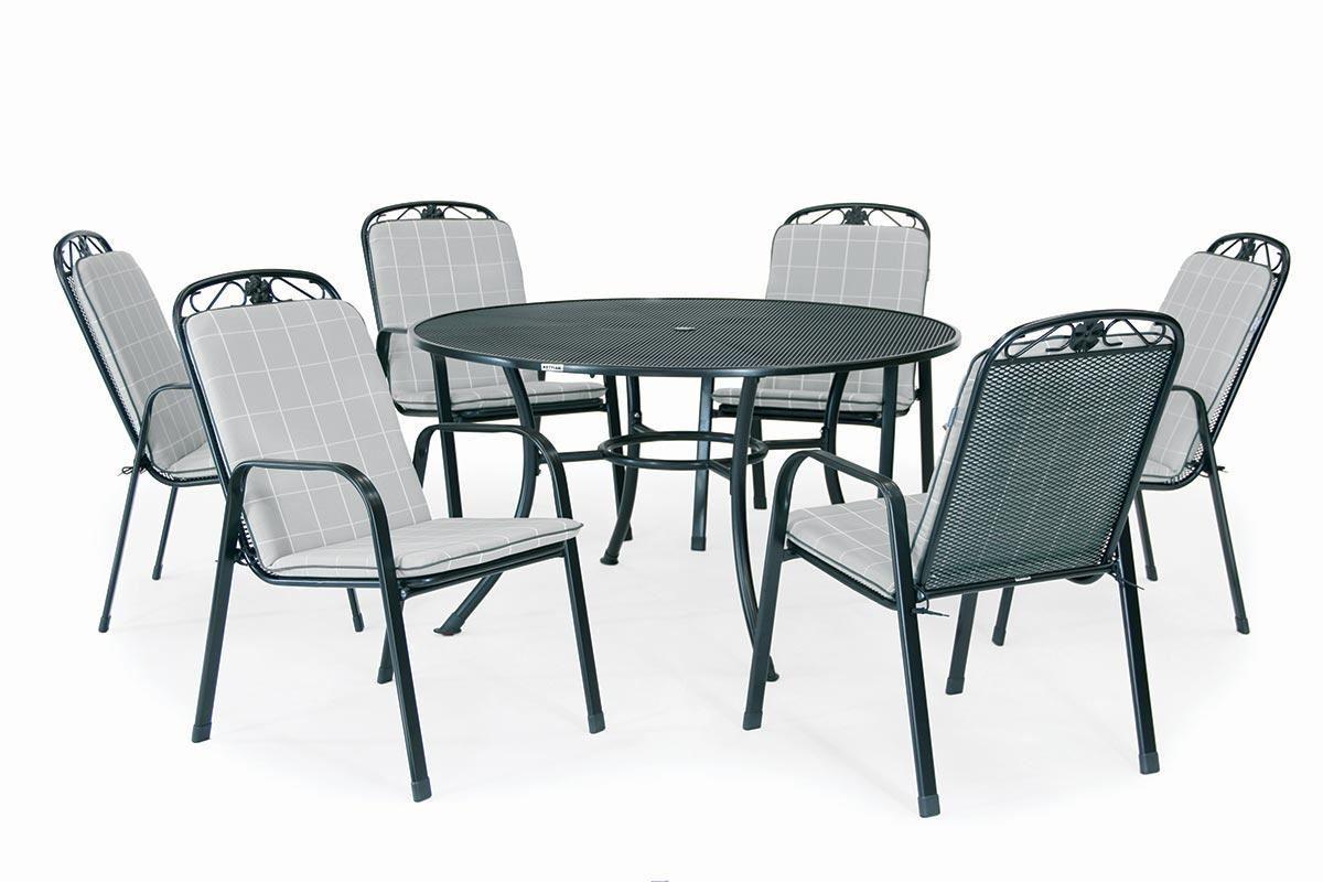 Kettler Siena 6 Seat Round Dining Set Cambridge Home Garden